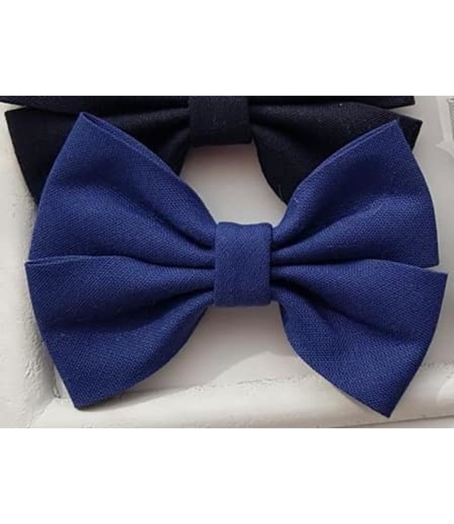 HELENA'S BOWTIQUE Cotton bow ROYAL BLUE
