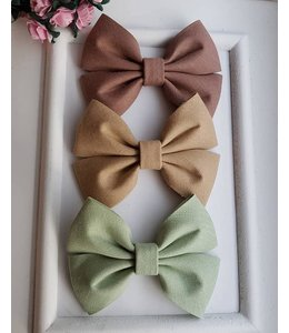 HELENA'S BOWTIQUE Cotton bow SALI GREEN