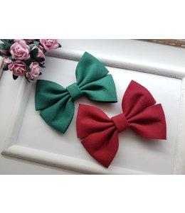 HELENA'S BOWTIQUE Cotton bow BURGUNDY