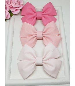 HELENA'S BOWTIQUE Cotton bow BABY PINK