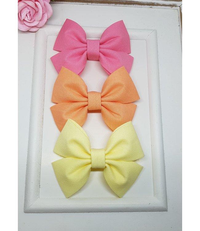 HELENA'S BOWTIQUE Cotton bow SALMON