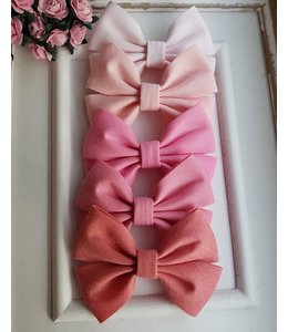 HELENA'S BOWTIQUE Cotton bow dusty pink
