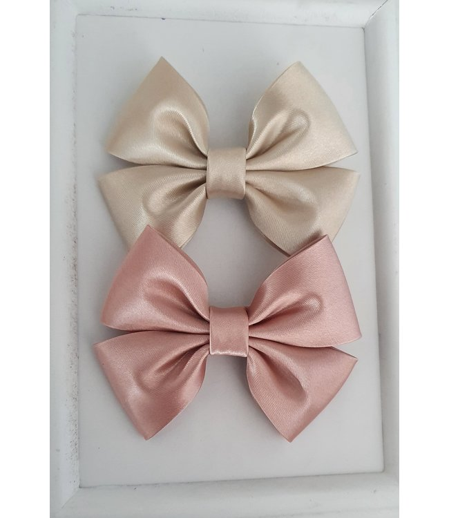 HELENA'S BOWTIQUE Satin bow OLD PINK