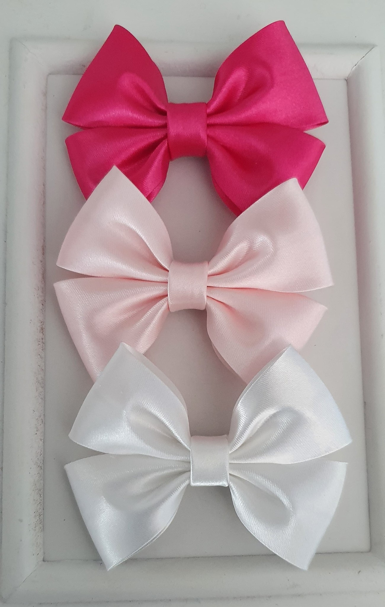Satin bow WHITE-1