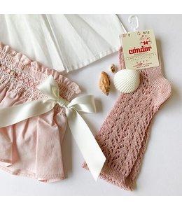 CONDOR  Glitter Knee socks Dusty Pink