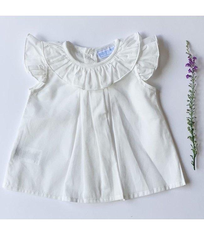 MAC ILUSION Ecru cotton blouse