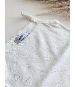 BABIDU Cream shirt with hearts