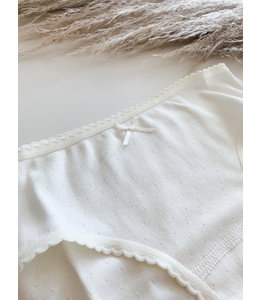 BABIDU Cream classic underpants with bow