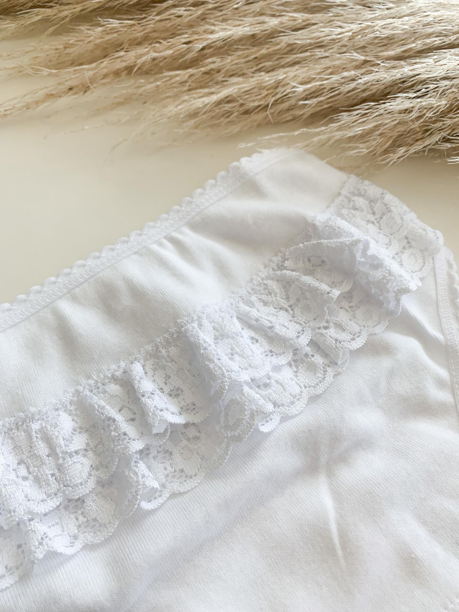 Wit onderbroekje met ruffles-1