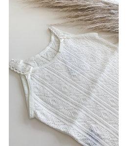 BABIDU Ecru summer body with spaghetti straps