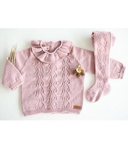 CONDOR  Opengewerkte sweater met hartjesmotief ROSA PALO
