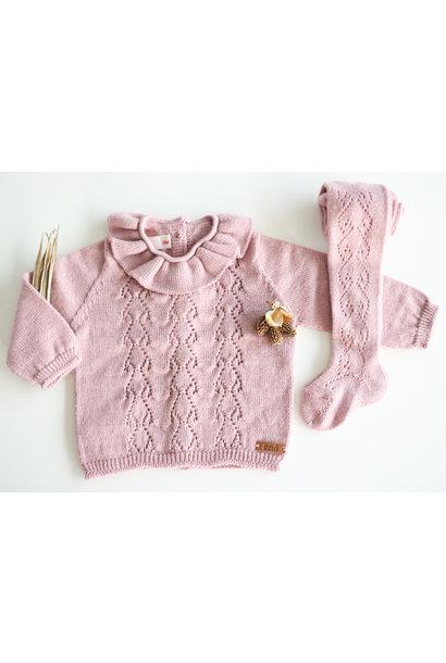 Opengewerkte sweater met hartjesmotief ROSA PALO