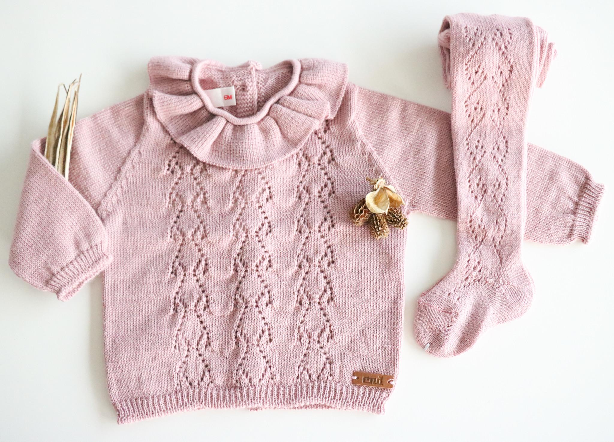 Opengewerkte sweater met hartjesmotief ROSA PALO-1
