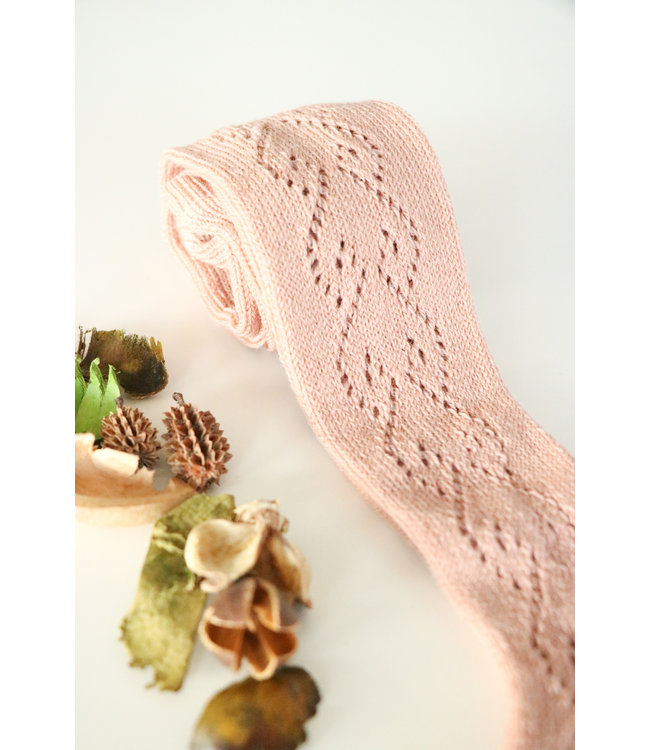 CONDOR   Tights with open weave heart motif  OLD PINK