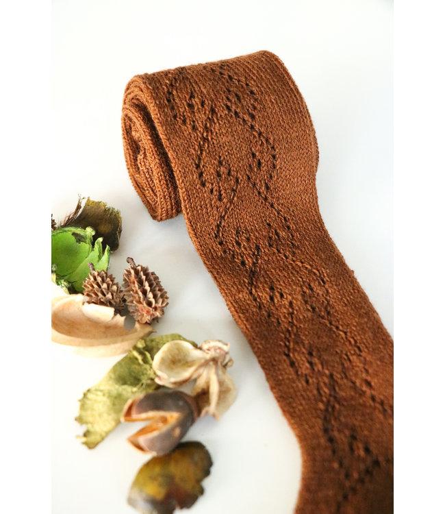 CONDOR  Kousenbroek met opengeweven hartjesmotief  Terracotta