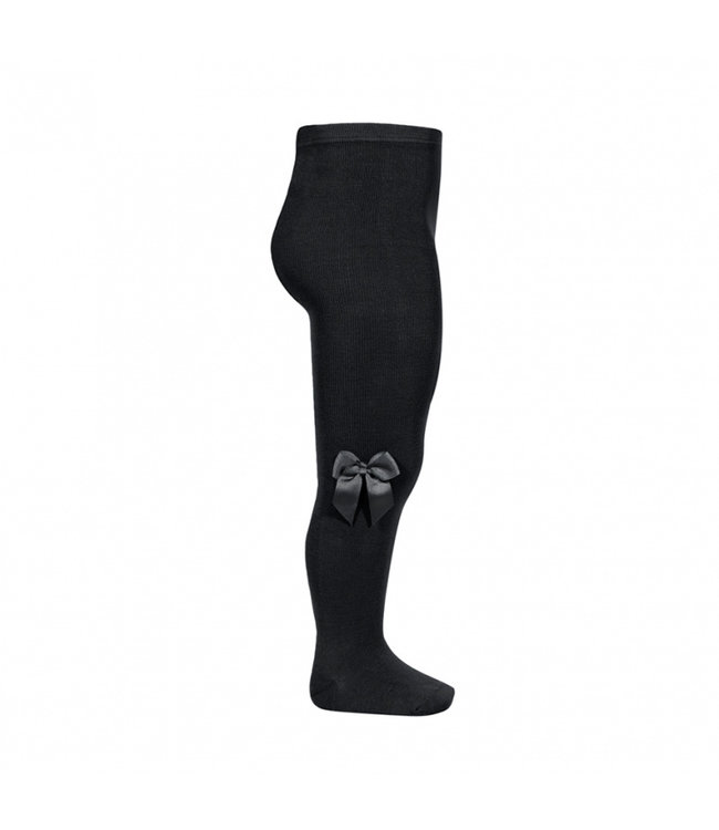 CONDOR   Stockings with bow BLACK