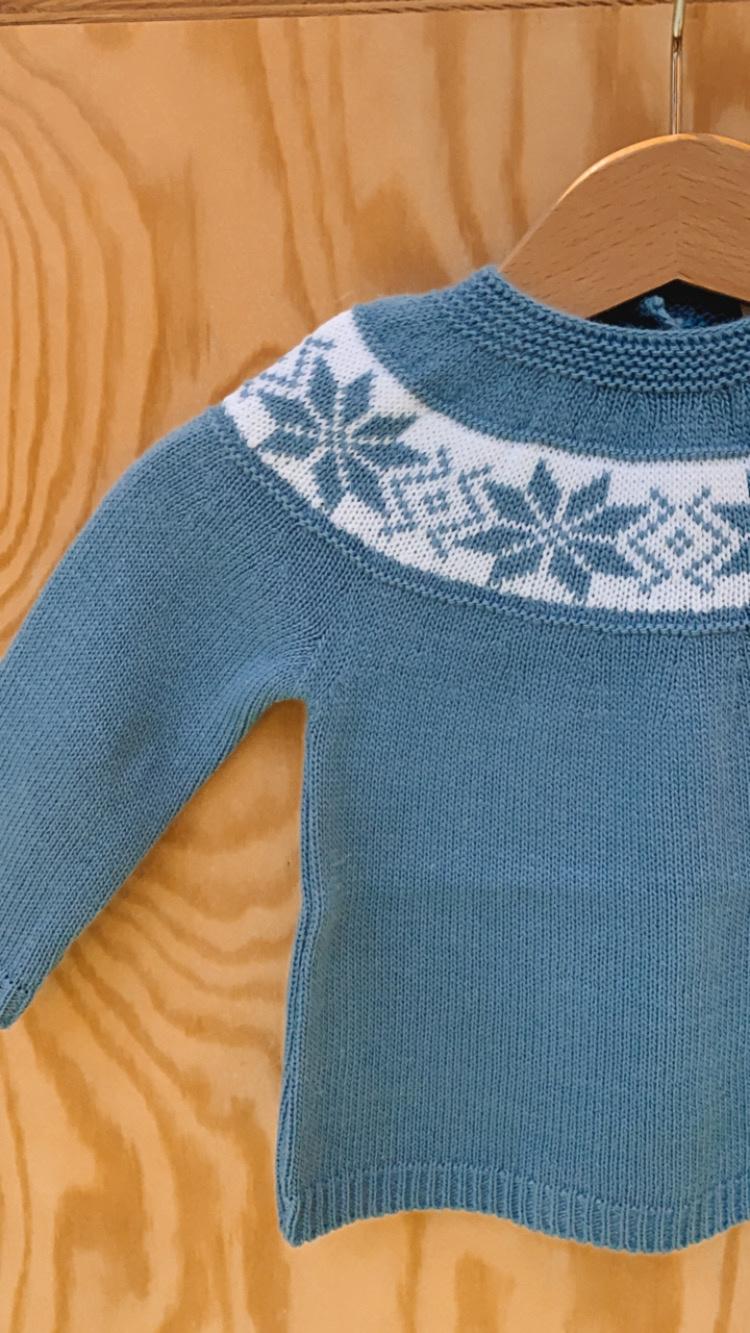 Blauw kersttruitje-2