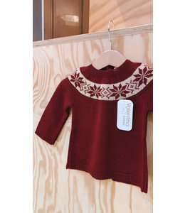 Burgundy christmas sweater