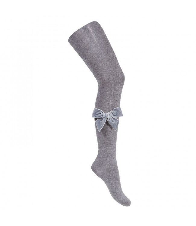 CONDOR  Tights with velvet bow grey