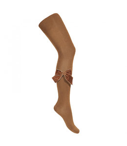 CONDOR  Tights with velvet bow TOFFEE