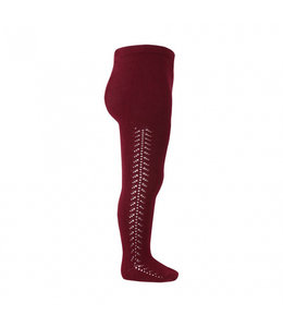 CONDOR  Stockings with herringbone on the side BORDEAUX