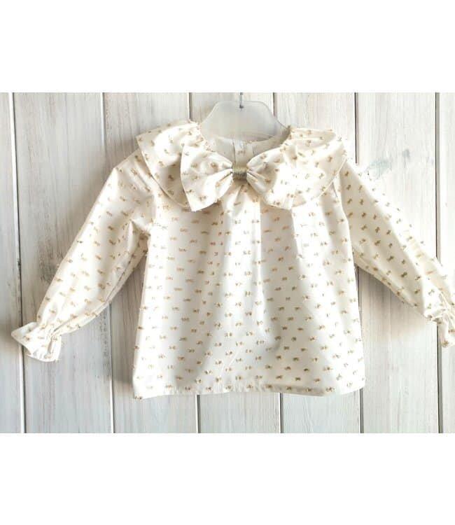 BABY'PHINE Gold plumeti blouse