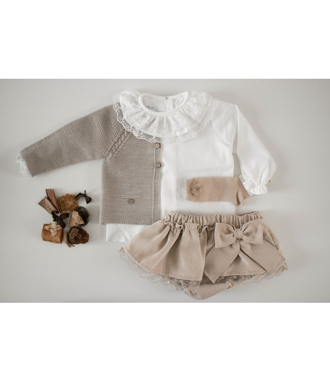 BABY'PHINE  White blouse with double collar