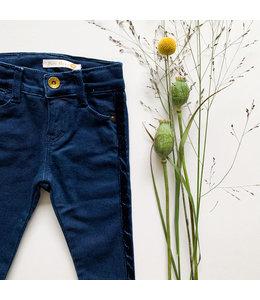 Jeansbroek met velvetstrip