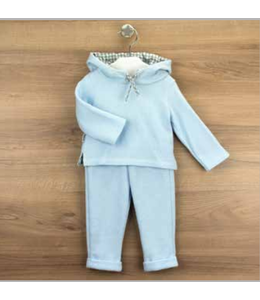 BABIDU Home suit with hood sky blue