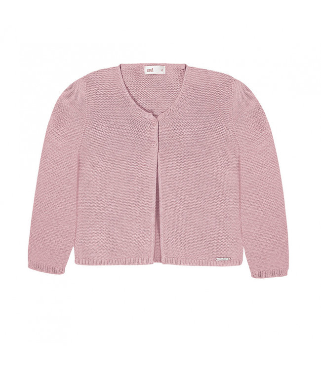 CONDOR  CONDOR | Finely knitted cardigan off white Rosa Palo