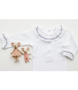 LAIVICAR White body with navy blue details in collar