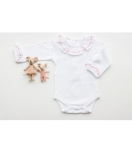 LAIVICAR White body with pink details in collar