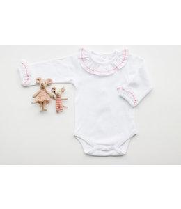 LAIVICAR Witte body met roze detailboord