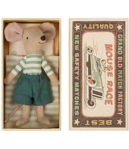 MAILEG Grote broer muis in doos blauwe broek