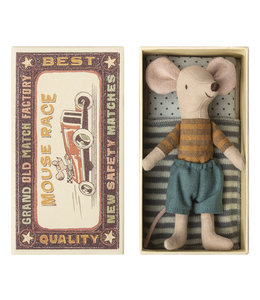 MAILEG Big Brother mouse in box Brown stripes