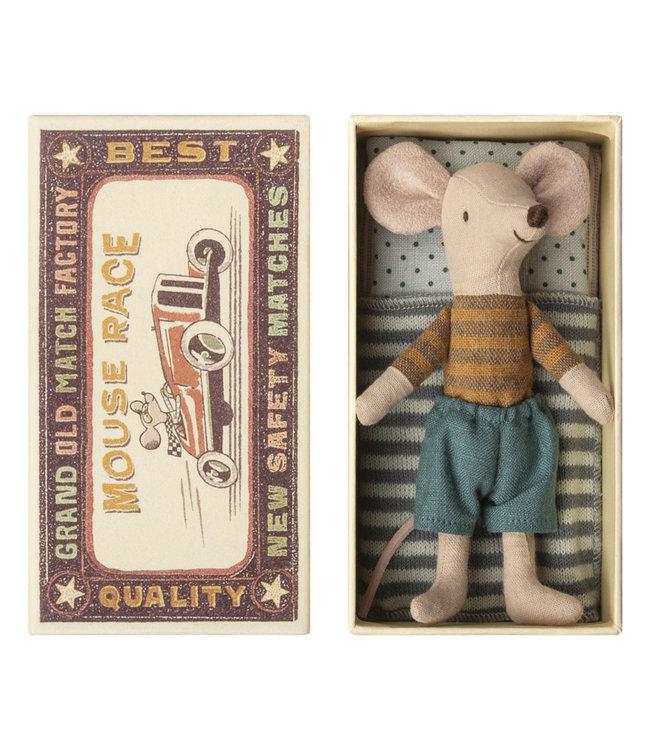 MAILEG MAILEG | Grote broer muis in doos bruin gestreept