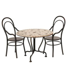 MAILEG Dining table with 2 chairs