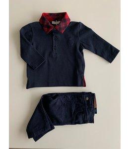 PATACHOU Marineblauwe aansluitende jeansbroek