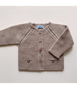 MAC ILUSION Cardigan with wooden buttons SAND