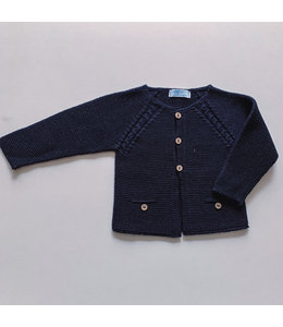 MAC ILUSION Cardigan with wooden buttons NAVY