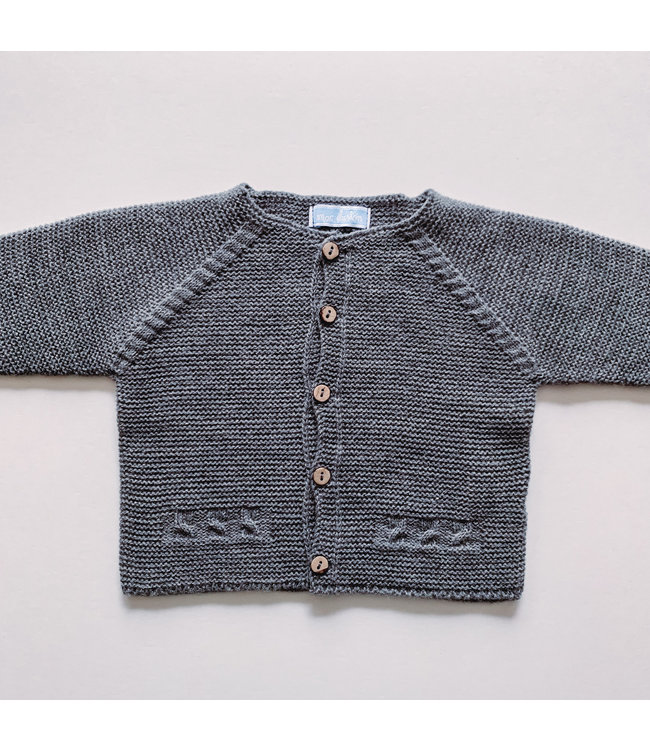 MAC ILUSION MAC ILUSION | Dark Gray Cardigan with wooden buttons