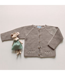 MAC ILUSION Sand colored cardigan with wooden buttons