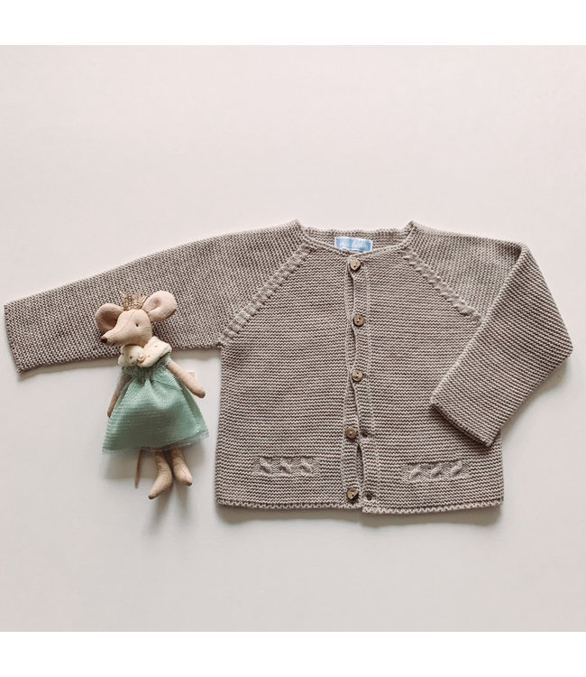MAC ILUSION MAC ILUSION | Sand colored cardigan with wooden buttons