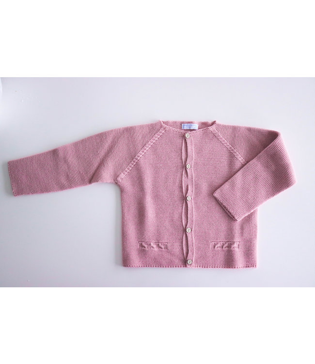 MAC ILUSION MAC ILUSION | Dusty pink Cardigan with wooden buttons