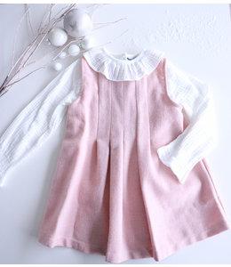 BABIDU Classic pink dress with plisse