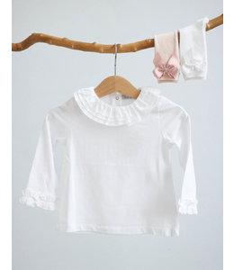 PATACHOU White classic longsleeve with beautiful finish on the sleeves