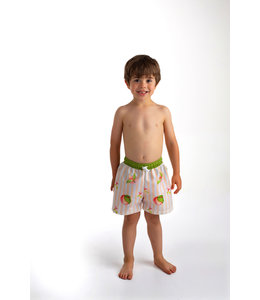 Meia Pata Swimshort with peaches