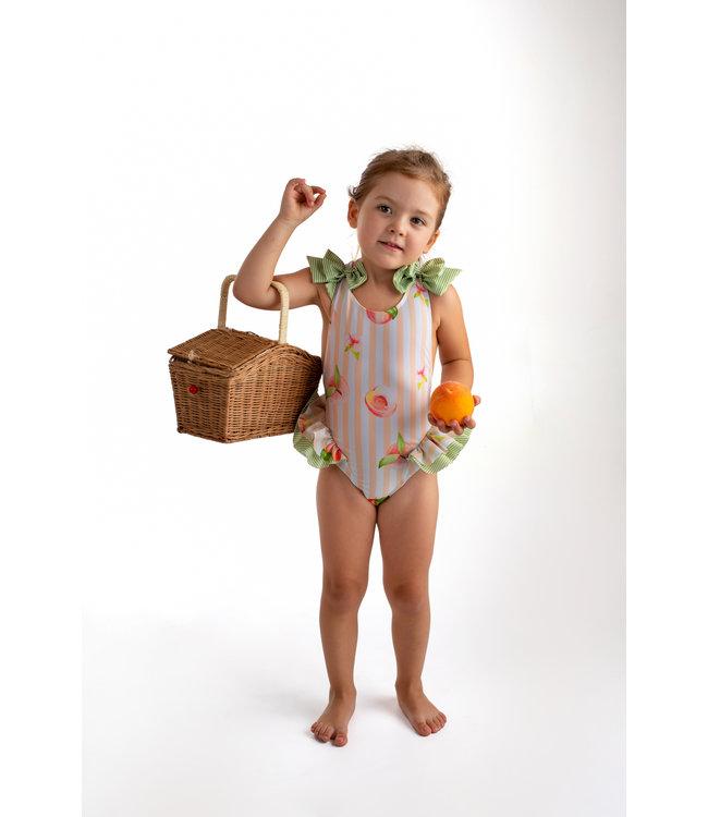 Meia Pata Swimwear with peaches - Menorca
