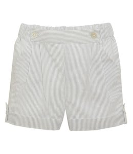 PATACHOU Light gray striped shorts