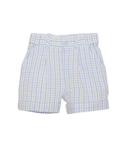 PATACHOU Sky Blue checkered shorts